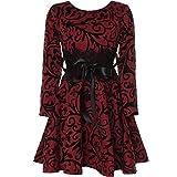 BEZLIT Mädchen Kinder Spitze Kleid Peticoat Fest Kleider Langarm 21639 Bordeaux Größe 164
