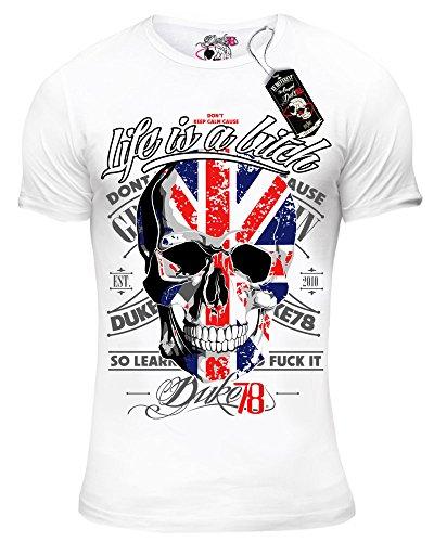 DUKE78 Herren Life is a bitch T-Shirt Weiß