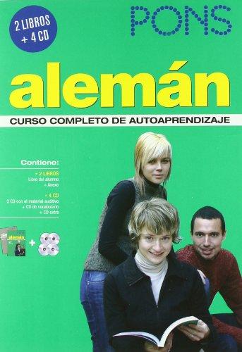 Curso PONS Alemán 2 libros + 4 CD (Pons- Curso Autoaprendizaje)