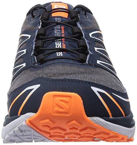 Salomon  Sense Manatra 3, Chaussures de trail hommes Gris - Grau (Grey Denim/White/Fluo Orange)