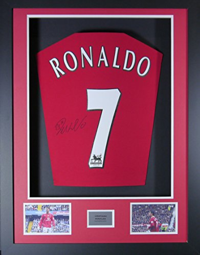 Cristiano Ronaldo Manchester United Signed Shirt 3D Framed Display with COA