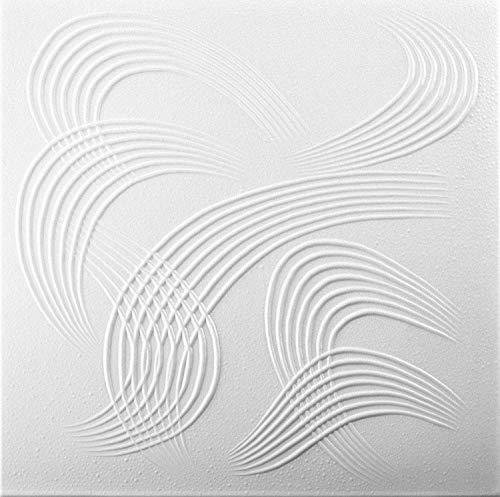 Pannelli Soffitto Polistirolo 0884 Bianco