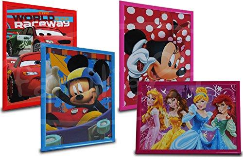 Wandbild AUSWAHL Kinderbild BILD Kinderzimmerbild Leinwandbild Bilderrahmen Mickey Maus Minnie Maus Princess Cars (Micky Maus)