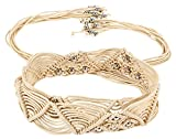 Jainsons Women beige braided hand made c...