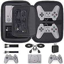 Etui pour Playstation Classic, Housse de Transport pour Console Sony Playstation Classic, Adaptée pour 2 Manettes, Câble HDMI, Câble USB et Autres Accessoires (2018)