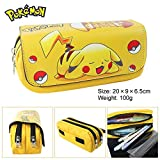 Cut Canvas Pencil Pen Bag Case Box Cosmetic Pouch Pocket Brush Holder Makeup Bags, Pokemon Pikachu by Esonhouse