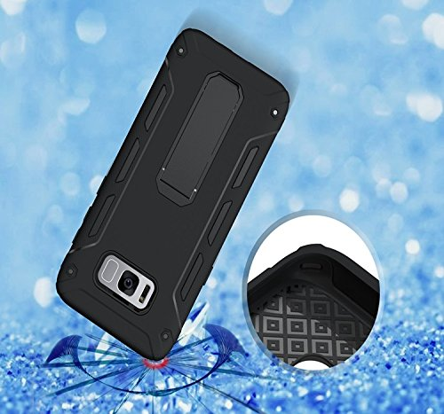 YHUISEN Galaxy S8 Plus Case, Cool Shockproof Rüstung Hybrid 2 In1 TPU und PC Rugged Dual Layer mit Kickstand Case für Samsung Galaxy S8 Plus ( Color : Green ) Black