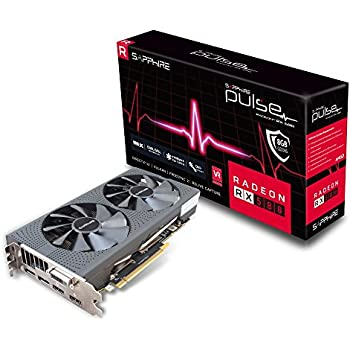 Sapphire RADEON RX 580 8GB GDDR5 PULSE Radeon RX 580 8GB GDDR5 - Tarjeta gráfica (AMD, Radeon RX 580, 3840 x 2160 Pixeles, 1366 MHz, 8 GB, GDDR5)