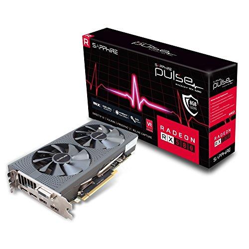 Sapphire Pulse Radeon RX 580 8GD5 lite Einzelhandel RX580 RX 580 11265-05-20G 8GB (Computer Desktop Apple)