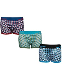 Zoiro Men's Cotton Trunk_Trento#0082_(Pack of 3)_Assorted Colors