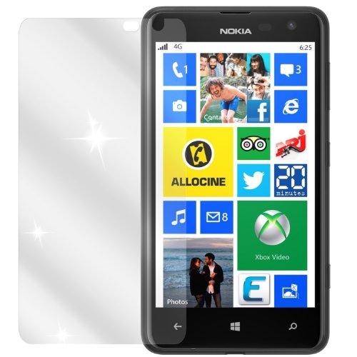 dipos I 2X Schutzfolie klar passend für Nokia Lumia 625 Folie Bildschirmschutzfolie