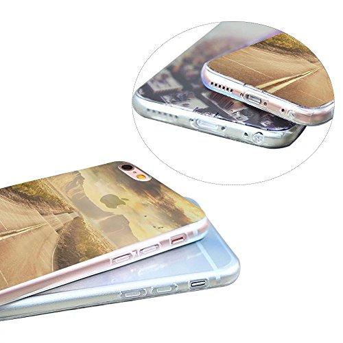 MOMDAD Art Coque iPhone 6S Plus TPU Silicone Etui pour iPhone 6s Plus La Conception du Paysage Housse Ultra-thin Ultra-Light Mince Coque Housse Cas pour iPhone 6 Plus/ iPhone 6S Plus 5.5 Pouces TPU Si paysage Coque-9