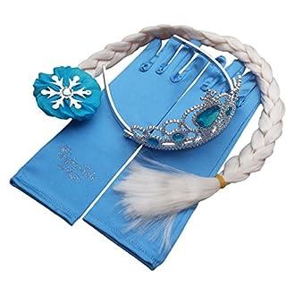 Queen Elsa Princess Anna Magic Wand, Rhinestone Elsa Tiara, Hair Crown & Glove Girl Gift Set