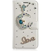 LG L Fino Funda, LG D295 Funda, Lifeturt [ Moon Love ] Cubierta de la caja de cuero superior de la carpeta del libro para LG L Fino/D295