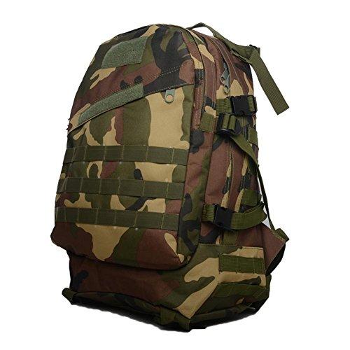 Borsa da montagna all'aperto 40L3D zaino camuffamento militare Arrampicata Escursioni quotidiane di campeggio Borse e borse desert camouflage jungle camouflage