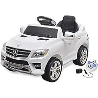 vidaXL Voiture électrique 6 V avec télécommande Mercedes Benz ML350 blanche
