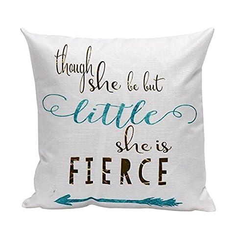 Squre Pillowcase,Kingko® ''FIERCE'' Letters Lines Pillow Case Sofa Waist Throw Car Cushion Cover Home Decor