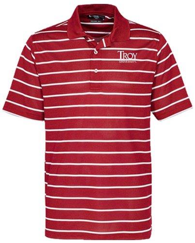 NCAA Herren Oxford Herren Brooks Classic Stripe Polo, Herren, Cherrywood/White Preisvergleich