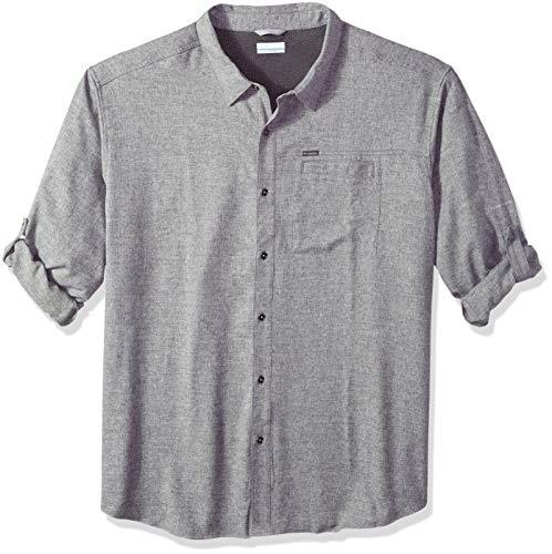 Columbia Men's Pilsner Lodge Ii Big & Tall Long Sleeve Shirt, Shark, 3X -