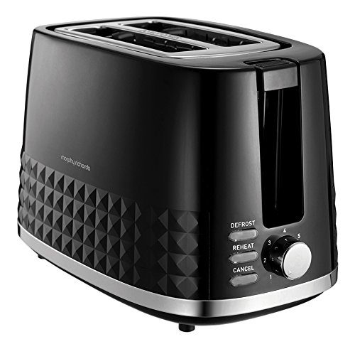 Morphy Richards 220021 Dimensions 2-Slice Toaster, 850 W, Black