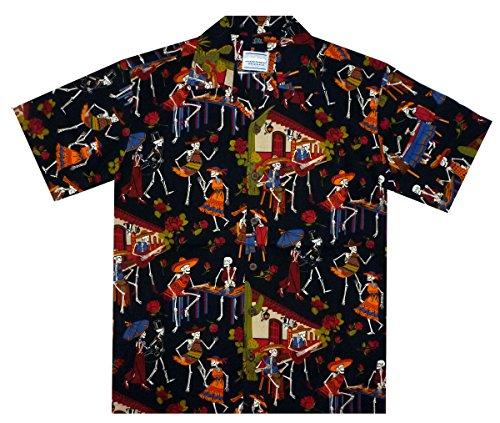 DC-Original-Camisa-Hawaiana-Skeleton-negro-3XL