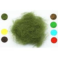 Bindematerial für Angelköder, weiche Faserhaare zum Fliegenbinden, 8-farbig, gemischt