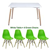 P&N Homewares® White Halo Dining Table And Set - Best Reviews Guide