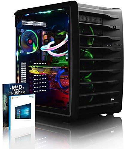 VIBOX Spectrum RXR780-70 Gaming PC Ordenador de sobremesa con Cupón de Juego, Win 10 (4,5GHz Intel i9 Extreme 10-Core Procesador, ASUS Strix Radeon RX 580 Tarjeta Grafica, 32GB DDR4 RAM, 3TB HDD)