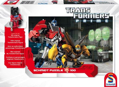 Schmidt Spiele 56052 - Hasbro, Transformers, Bumblebee und Optimus Prime, 100 Teile (Transformer Teil)