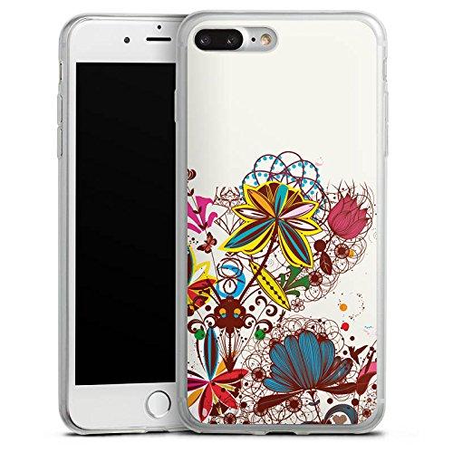 Apple iPhone 8 Slim Case Silikon Hülle Schutzhülle Blumen bunt blume Silikon Slim Case transparent