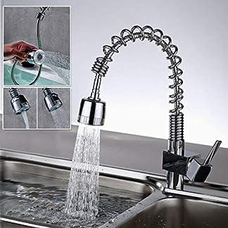 51Yo4HDZ kL. SS324  - 1 orientable 360° Auralum vogtlandarmaturen cromo grifo monomando cascada ferro herausziehbarerem con alcachofa de ducha grifo para cocina o baño