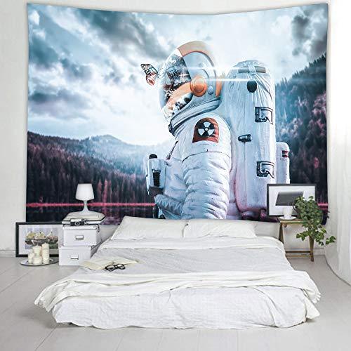 mmzki Astronaut Tapestry Kinderzimmer Dekoration Jungen Schlafzimmer - Dekor - Kunst Tapestry Room - Dekor - Landschafts Tapestry Home Decor Mural 200x150cm