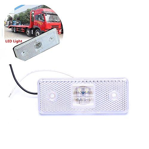 4 Led 12 v Marker Weiß Hinten Led-Licht Anhänger Lkw Lkw Lkw Anhänger Seitenmarkierungsleuchte Lampe Set (Seitenmarkierungsleuchten-set)
