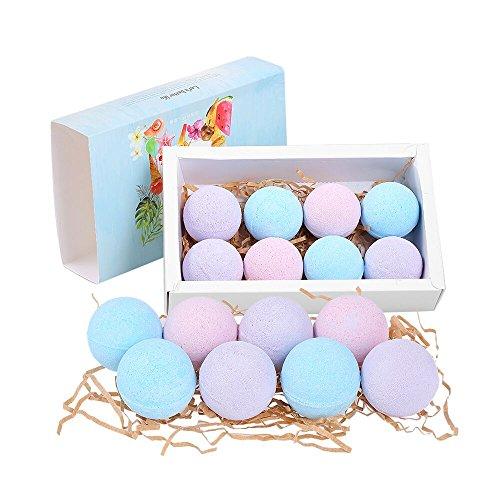 Preisvergleich Produktbild Anself 8St Organische Badebomben Fizzer Salze Ball Ätherisches Öl Handgemachte SPA Peeling Ozean Lavendel Rose Geschmack