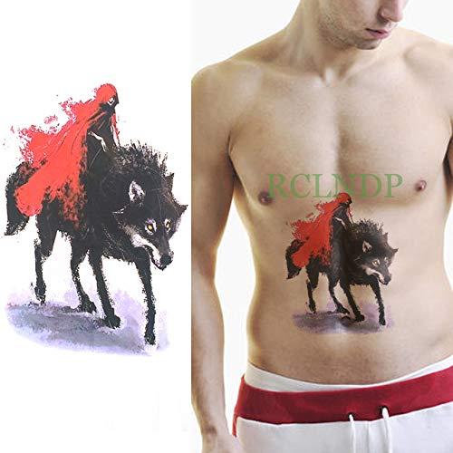 ljmljm 4 Pezzi Autoadesivo Impermeabile del Tatuaggio Tatto Tatoo Tatouage di Grandi Dimensioni Gamba Braccio Posteriore Petto Tato per Donna Uomo Ragazza Nero 21x15 cm