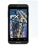 atFolix Schutzfolie kompatibel mit Archos 40 Power Panzerfolie, ultraklare & stoßdämpfende FX Folie (3X)