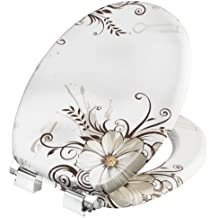 Cornat WC-Sitz Brown Flower mit Absenkautomatik, Holzkern (MDF), Dekor, KSDSC541