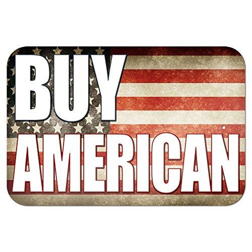 """Graphics and More 22,9x 15,2cm \""""kaufen, American Rustikal Vereinigten Staaten Flagge\"""" Metall Schild"""
