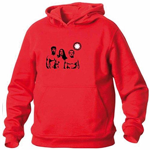 Art T-shirt, Felpa Con CappuccioRed Hot Chili Peppers Band, Uomo, Rosso, XL