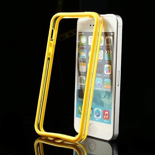 XAiOX - iPhone 5s 5 Bumper Schutzhülle in transparent schwarz gelb