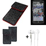 K-S-Trade® Protective Felt Case Compatible With Crosscall