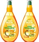 Garnier Fructis Huile Miraculeuse Soin sans Rinçage 150 ml - Lot de 3