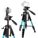 Stativ-POLAM-FOTO 140cm Fotostativ, Reisekamera Stativ mit Tragetasche f¨¹r SLR/DSLR passt mit Canon/Nikon/Sony/etc.(Blau)