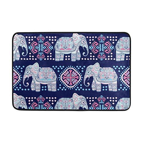 Felpudos Antideslizantes Estera de la Puerta Decoración para el hogar, Vintage Elefantes...