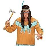 Indianer Kette Goldene Indianerkette Topas Stein Halskette Häuptling Halsschmuck Totem Adler Hals Schmuck Indianerkostüm Accessoire Karneval Kostüm Zubehör -