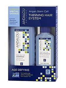 Andalou Naturals Système de soins anti-âge - Pour cheveux de plus en plus clairsemés - Ensemble 3 produits