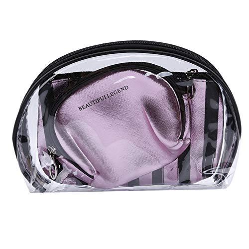 Pacchetto Wbdd 3pcs/set Portable Travel Organizer Cosmetic Bag Borsa Toilette Borsa Impermeabile Lavaggio Magazzino Champagne rosa