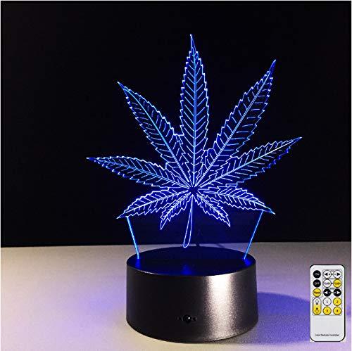 Die Maple Leaf Gardens (3d Led Optische Illusion Lampe Remote Maple Leaf 3d Visual Illusion Lampe Transparent Acryl Nachtlicht Led Lampe 7 Farbe Ändern Touch Tischlampe Lava Lampe)