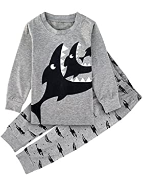 Mombebe Kinder Junge Flugzeug Schlafanzug Pyjama Set