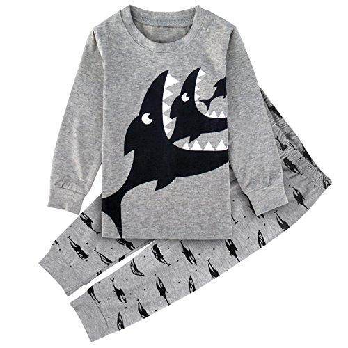Mombebe Enfant Garcons Requin Pyjama Ensembles Vêtements De Nuit (Requin, 5 ans)